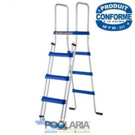 Escalera de seguridad 134cm 2x3 peldaños + plataforma